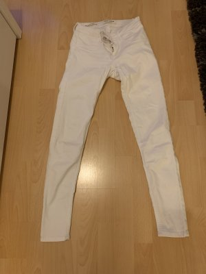 Tally Weijl Jeans taille basse blanc coton