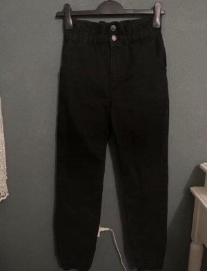 Bershka Workowate jeansy czarny
