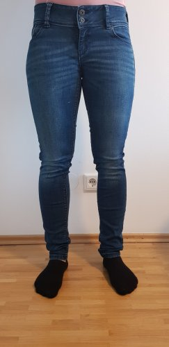 Clockhouse Jeans a sigaretta blu scuro Cotone