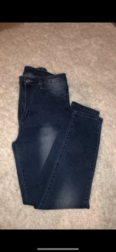 SheIn High Waist Jeans steel blue-azure