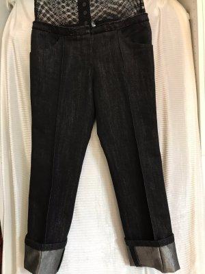 Chanel Jeans vita bassa nero-argento