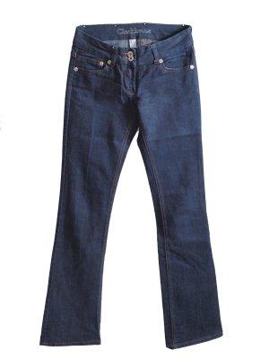 Clockhouse Jeansy z prostymi nogawkami ciemnoniebieski Bawełna