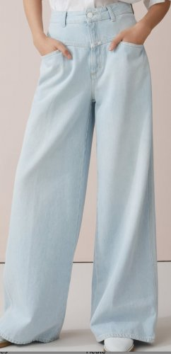 Closed Jeans taille haute bleu azur-bleu clair