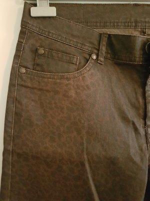 Jeans a sigaretta talpa-marrone