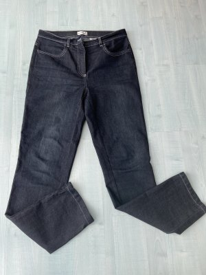 New York & Company Jeansy o kroju boot cut antracyt-czarny