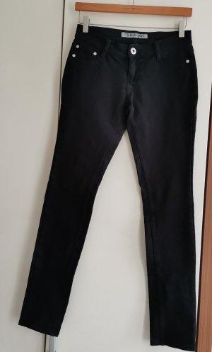 Pantalon cinq poches noir coton