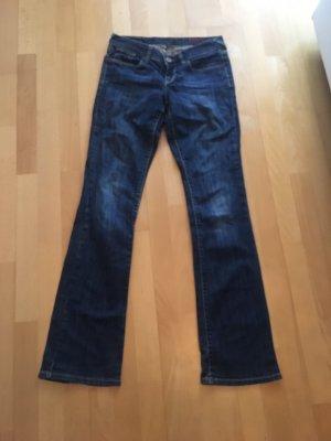 Cross Boot Cut Jeans dark blue