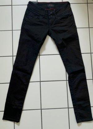 Cross Dopasowane jeansy czarny-czerwony Bawełna