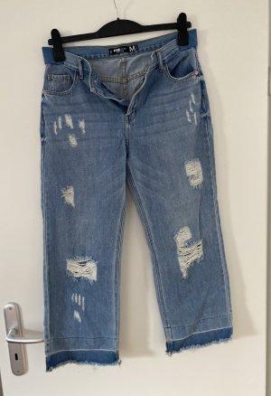 Fishbone Jeans a 7/8 azzurro Cotone