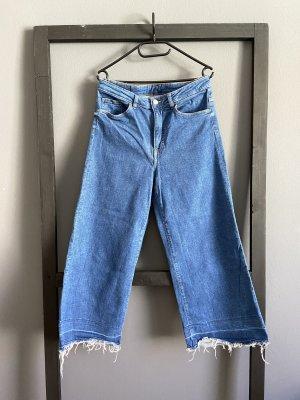 H&M Jeansy 7/8 stalowy niebieski-błękitny