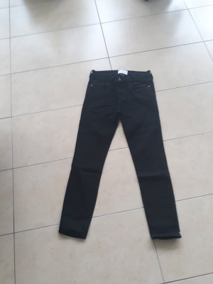 Current/elliott 7/8 Length Jeans black cotton