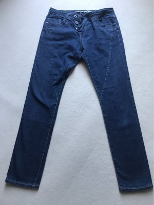 PLEASE Denim Boyfriend Jeans dark blue
