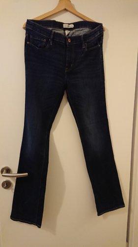 H&M L.O.G.G. Jeansy z prostymi nogawkami ciemnoniebieski