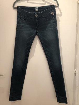 Replay Jeans a gamba dritta blu scuro