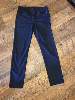 123 Paris Spodnie ze stretchu ciemnoniebieski