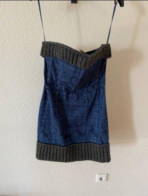Dolce & Gabbana Robe à corsage bleu