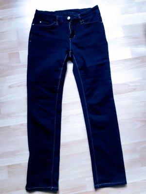 JEANS Damen Stretch Jeans Hose dunkelblau blau Gr. 36
