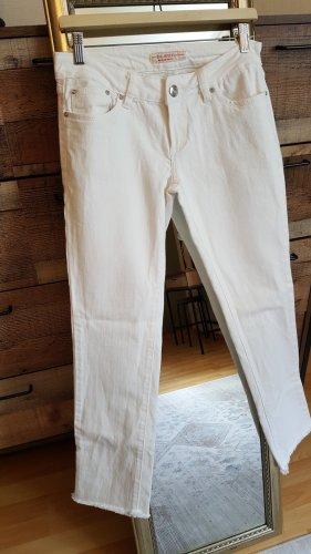 Jeans Damen Weiß Denim Gr.38