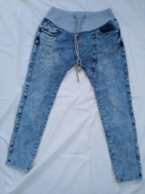 Simply Chic Jeans stretch bleu azur coton