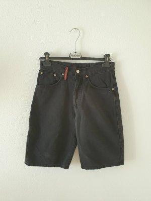 Jeans Denim Shorts Bermuda Outsider 28 made in Italy high waist schwarz black