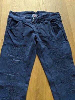 Cycle Jeans coupe-droite violet foncé-bleu