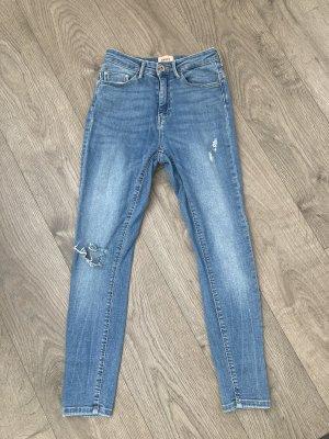 Only Jeansy z prostymi nogawkami chabrowy