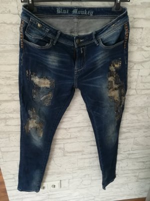 Blue Monkey Jeans taille basse multicolore