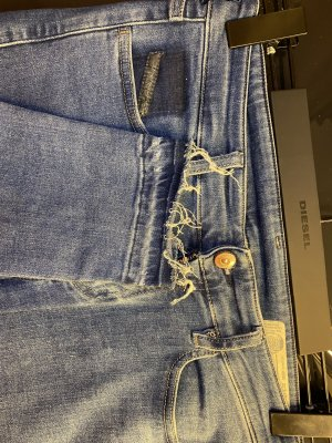 Diesel Carrot Jeans neon blue-blue cotton
