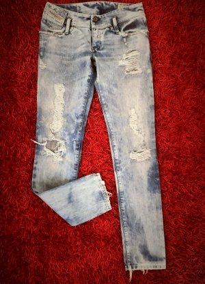 Diesel Industry Straight Leg Jeans azure cotton