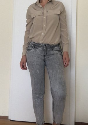 DKNY Jeans Jeans taille basse gris clair-blanc