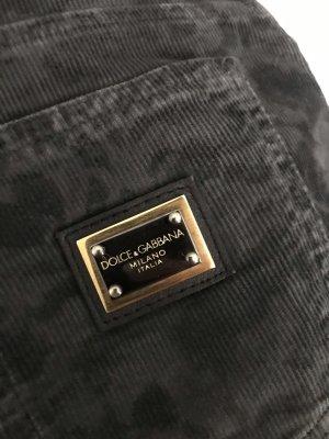 Dolce & Gabbana Jeansy o obcisłym kroju czarny-antracyt