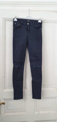 Colloseum Jeans a vita alta blu scuro