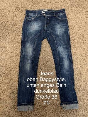 Bershka Jeans baggy bleu foncé
