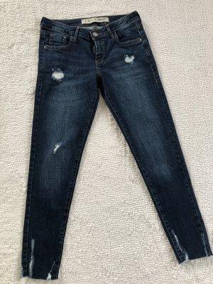 & DENIM Skinny jeans donkerblauw