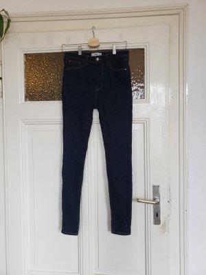 Jeans Dunkle Blau high waist