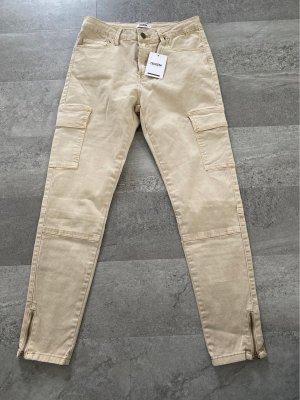 Colloseum Pantalón de cintura alta beige claro