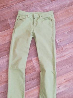 7 For All Mankind Jeans a sigaretta verde chiaro