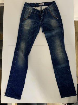 Rossodisera Workowate jeansy niebieski neonowy