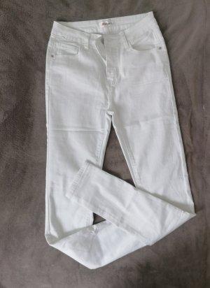 Stretch jeans wit