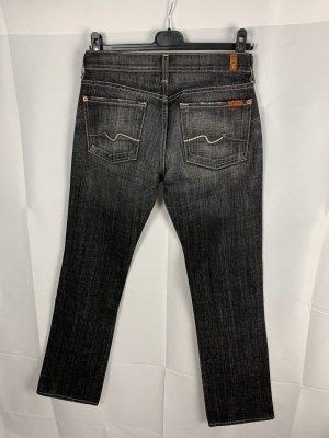 Seven7 Jeans cigarette gris foncé