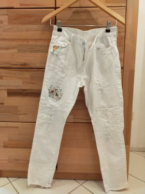 miss goodlife Pantalon boyfriend blanc