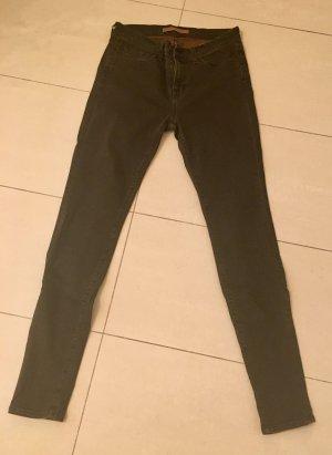Brand Jeansy ze stretchu brązowy Bawełna