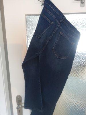 Gap Jeansy 7/8 stalowy niebieski Bawełna