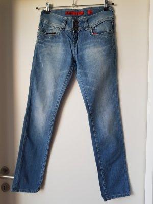 QS by s.Oliver Jeans cigarette bleu azur