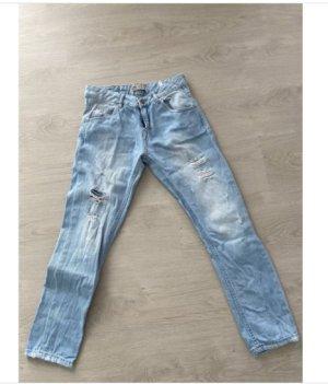 Jeans boyfriend bleu clair