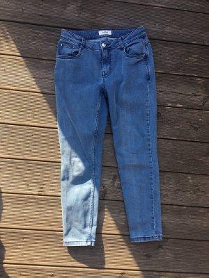 woman essentials by Tchibo Jeans 7/8 bleuet-bleu azur coton