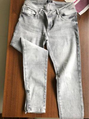 Eksept Jeans 7/8 gris clair tissu mixte