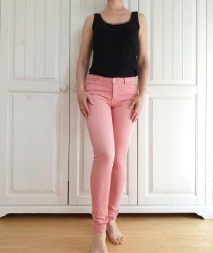 Jeans Esprit Hose Röhrenhose 27 34 36 S XS Röhrenjeans rosa pink
