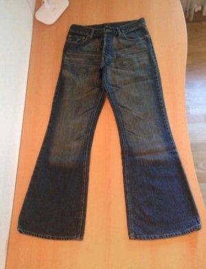 Jeans - Extreme Boot Cut / mit Schlag von Divided by H&M / dunkelblau / Sehr guter Zustand