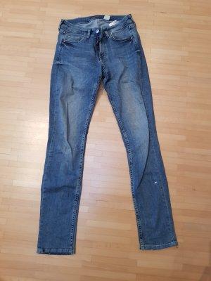 H&M Jeans taille basse bleu